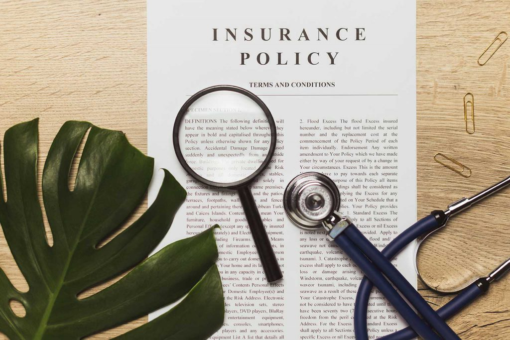 health insurance policy wording
